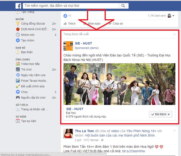 Dịch vụ quảng cáo facebook tại Thanh Hóa