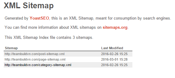 cách tạo xml sitemap