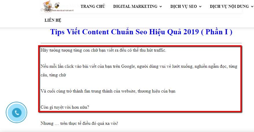 tips viet content chuẩn seo
