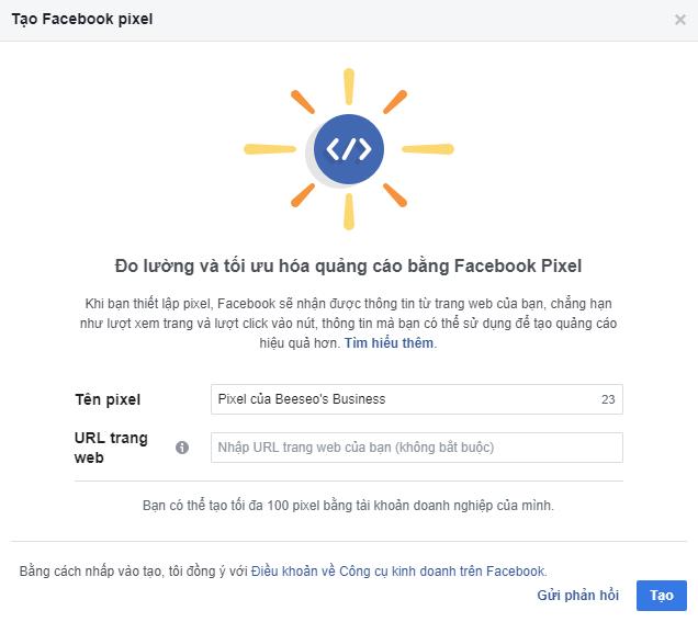 cách tạo pixel facebook