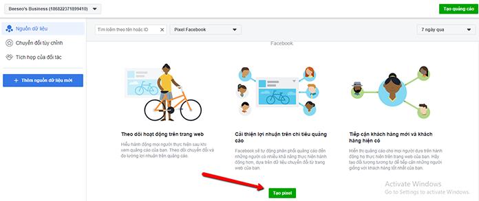 hướng dẫn tạo facebook pixel