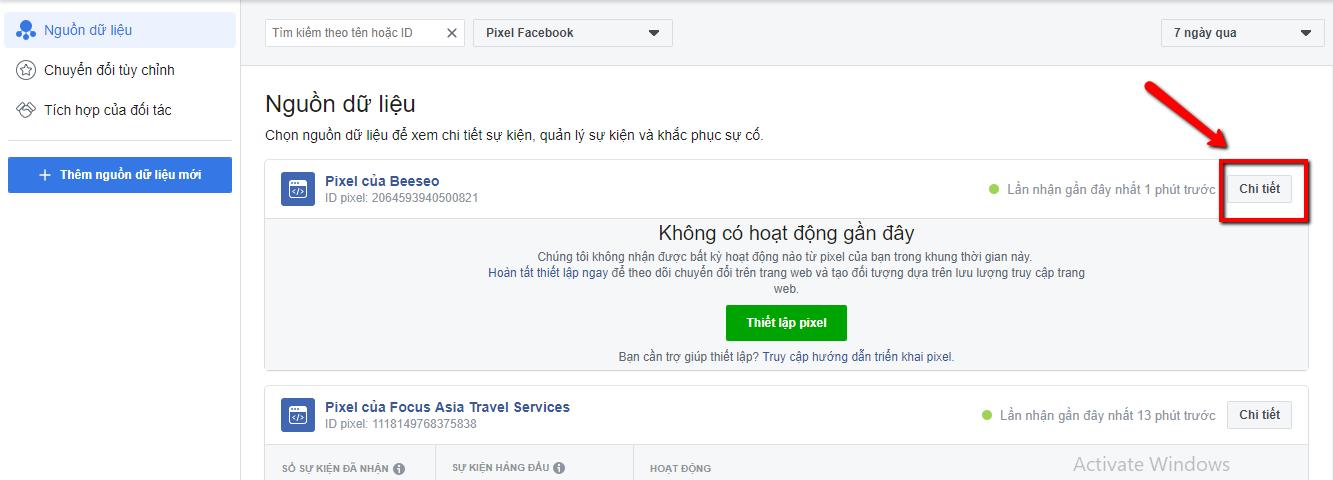 tạo sự kiện facebook pixel