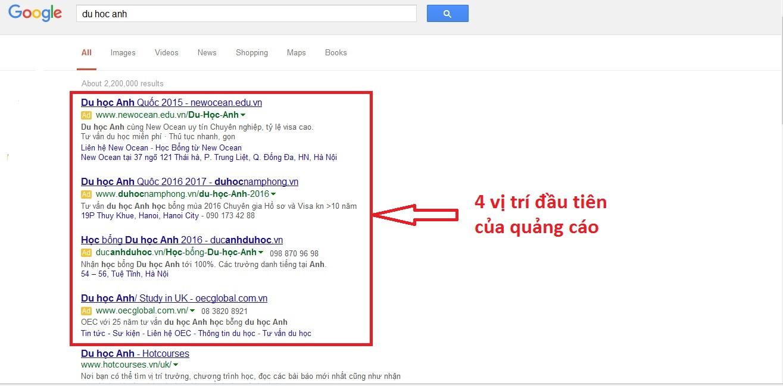 tìm hiểu về quảng cáo google adwords