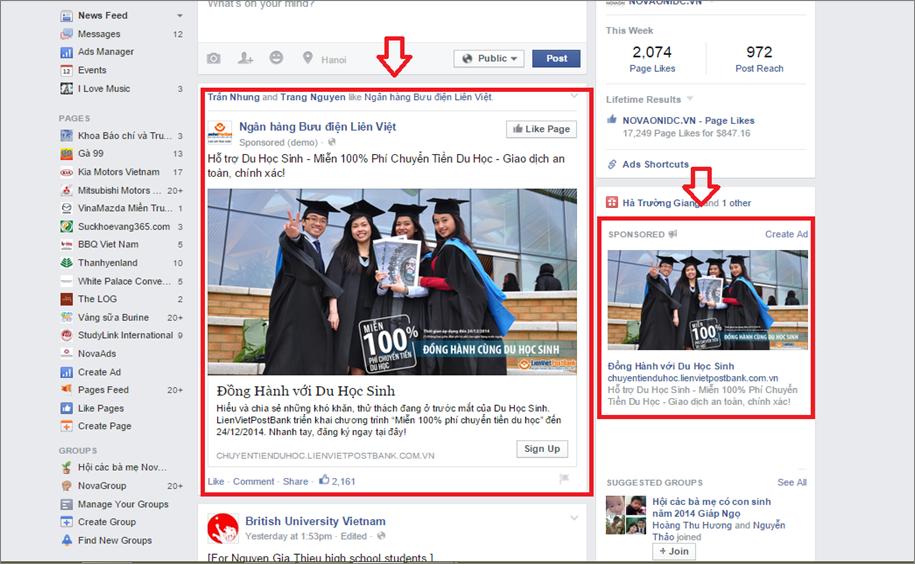 quang cao facebook - quang cao website